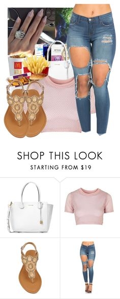 """Spring "" by onfleeklover21 ❤ liked on Polyvore featuring Michael Kors and Topshop"