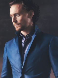 The blue brings out his beautiful eyes. Hell, he's beautiful from head to toe!