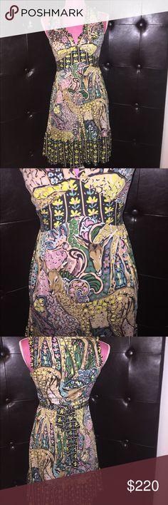 Vintage Betsey Johnson mosaic Bambi dress Extremely hard to find vintage piece. Sleeveless mosaic Bambi dress by Betsey Johnson Betsey Johnson Dresses Midi