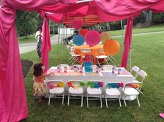 Project Nursery - Girl Elmo 2nd Birthday Party Kids Table