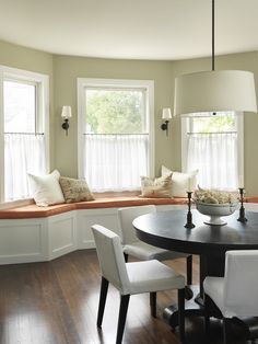 Window Seats With Shelving Design, Pictures, Remodel, Decor and Ideas - page 9 - I like the trim detail below the cushions.