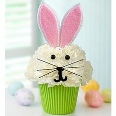 Cupcake in Bloom Easter Buuny Arrangement