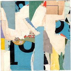 "KRA1101, paper collage, 6"" x 6"" 2011 CAROL GOVE"