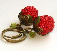 Vintage raspberry earings