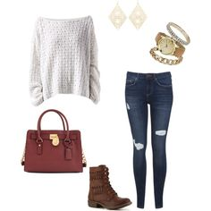 """Casual Cute Comfy"" by stylishabbyblog on Polyvore"