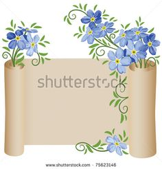 Forget Me Not Flower Drawings | ... Photos, Illustrations, and Vector Art similar to Image ID 47378719