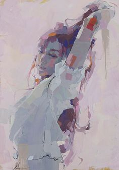 Figurative painting by Izumi Kogahara Human Painting, Figure Painting, Figure Drawing, Painting & Drawing, Art Amour, L'art Du Portrait, Portraits, Monalisa, Art Et Illustration