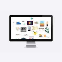 nice scrolling for items - pop up-  Moby Digg  Graphic Design Studio in Munich