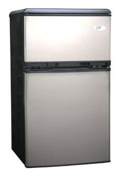 Sunpentown RF-320S 3-1/5-Cubic-Foot Double-Door Refrigerator, Stainless by Sunpentown, http://www.amazon.com/dp/B0009EXXWE/ref=cm_sw_r_pi_dp_HXJeub11Q7A59
