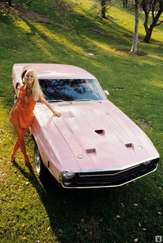 #ConnieKreski - #Ford - #FordMustang - #Mustang - #Shelby GT500 #Fastback for #Playboy magazine 1969
