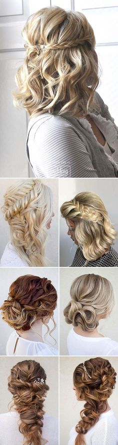 30 Hottest Bridesmaids Hairstyles For Short or Long Hair ❤ Thinking about bridesmaids wedding hairstyles for your big day? See more: http://www.weddingforward.com/hottest-bridesmaids-hairstyles-ideas/ #wedding #hairstyles