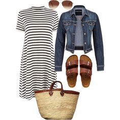 Summer casual by elsass on Polyvore featuring polyvore, fashion, style, Warehouse, maurices, Birkenstock and Eloquii