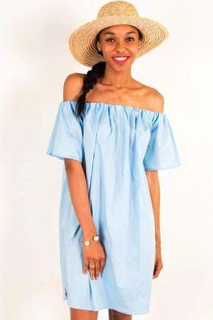 Jane Light Blue Midi Dress
