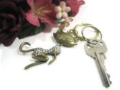 Sexy Cat Keyring Key Ring Keychain Key Chain by Cynhumphrey