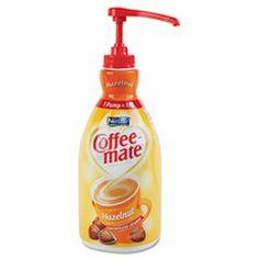 Nestle Coffee mate Coffee Creamer, Hazelnut, Liquid Pump Bottle, Ounces (Pack of Non Dairy Coffee Creamer, Nestle Chocolate, Hot Cocoa Mixes, Break Room, Drinking Tea, Pump, Bottle, Coffee Machine, Small Tub