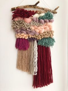 Your place to buy and sell all things handmade Crochet Wall Hangings, Weaving Wall Hanging, Weaving Art, Tapestry Weaving, Tapestry Wall, Stitch Patterns, Knitting Patterns, Tear, Textiles