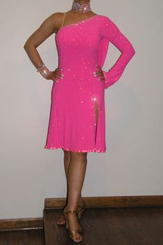 Pink Latin Costume for Sale, Dance Costumes For Sale, Dance Gowns for sale