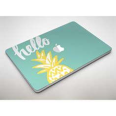 Well Hello Pineapple Apple MacBook Air or Pro Skin Decal Kit (All... ($20) ❤ liked on Polyvore featuring beauty products