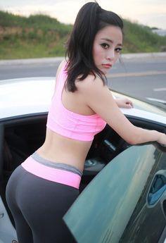 Pity, that Asian girl yoga pants