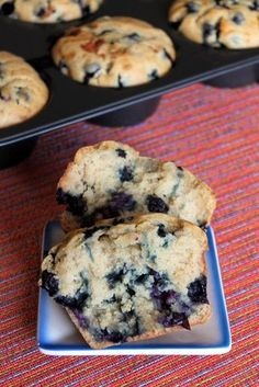 Sourdough Blueberry Muffins (sub melted butter for oil).