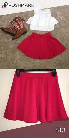 ‼️ RED SKIRT ‼️ Fits more like a SMALL // Boots & top available   No trades Shipped out same day  Skirts Mini