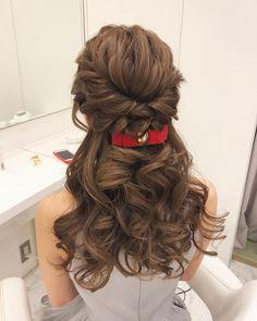 美容師さんにそのまま見せる用♡『ハーフアップ』の可愛いお呼ばれヘアカタログ* | marry[マリー] Pretty Hairstyles, Girl Hairstyles, Braided Hairstyles, Wedding Hairstyles, Hair Inspo, Hair Inspiration, Wedding Inspiration, Alone Girl, Hair Arrange