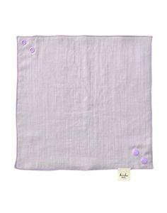 Kishu Baby Girl Bandana Bib, Solid Reversible, One Size Multicolor (lavender/sage)