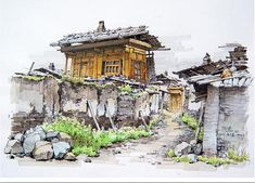 Image result for copic landscape drawings