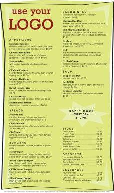 Menu templates Restaurant Menu Template, Restaurant Menu Design, Restaurant Concept, Diner Menu, Bbq Menu, Resturant Menu, Free Menu Templates, Cafe Menu Design, Printable Menu