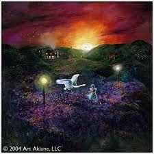As of this posting this little girl Akiane Kramarik has been paining prophetically since the age of 6 and is now 17, she would literally see Jesus and things that God showed her and wanted to paint them. This one is called Evening
