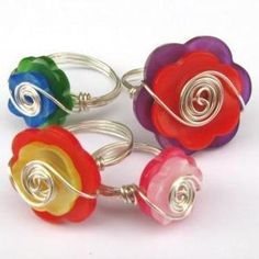 wire button rings