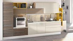 Risultati immagini per lube essenza One Wall Kitchen, Kitchen Room Design, Kitchen Cabinet Design, Kitchen Sets, Modern Kitchen Design, Kitchen Decor, Kitchen Modular, Modern Kitchen Cabinets, Kitchen Furniture