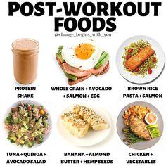 Protein shake Whole grain + avocado + salmon + eggs Brown. Quinoa Avocado Salad, Salmon Avocado, Quinoa Rice, Healthy Life, Healthy Eating, Clean Eating, Healthy Nutrition, Fitness Nutrition, Healthy Fats