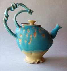 i ought to have started a pottery pinboard. LOVE THIS ARTISTS WORK! what better teapot for a mad hatter...