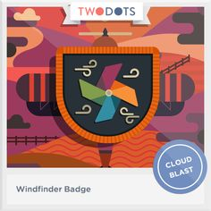 I followed a break in the clouds and earned my Windfinder Badge - playtwo.do/ts #twodots