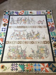 Custom Quilts of Joy Quilting Stencils, Quilting Tips, Machine Quilting, Quilting Projects, Quilting Designs, Halloween Embroidery, Halloween Quilts, Appliqué Quilts, Fall Quilts