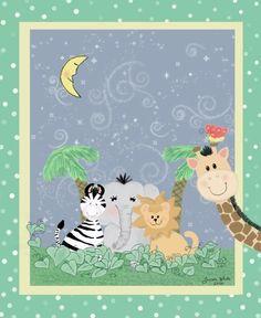 Cutesy, baby, animals, nursery, congrats on baby type thing