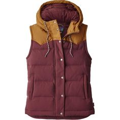 Good for a Fall hike, Casual wear Bivy Hooded Vest Dark Ruby Fall 2017 600 fill Duck down, water resistant