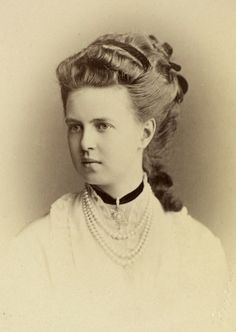 Grand Duchess Maria Alexandrovna of Russia (also known as Duchess of Edinburgh and Duchess of Saxe-Coburg and Gotha).  She was the sister of Tzar Alexander III of Russia and the aunt of Russia's last Tzar, Nicholas II.  In 1874, Maria Alexandrovna married Prince Alfred, Duke of Edinburgh, the second son of Queen Victoria and Prince Albert; she was the first and only Romanov to marry into the British royal family.