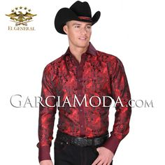 Camisa Vaquera  El General Western Wear 34187GM Red