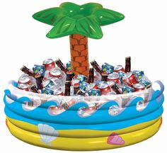 "Palm Tree Inflatable Cooler | 28.5"""" x 26.5"""""