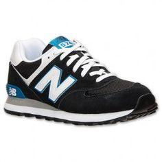 Zapatillas New Balance 574 Hombres del Ante de Negro/Azul/Blanco Barcelona Precio