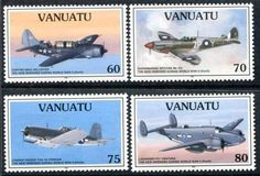 Vanuatu 664 667 MNH Aviation Aircraft S9193 | eBay