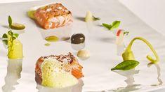 Ventresca de salmón con salsa tártara en deconstrucción de Paco Roncero