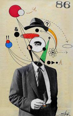 "Saatchi Art Artist Loui Jover; Collage, ""Agent 86"" #art"