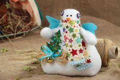juguete de tela de navidad  forro polar hecho a mano