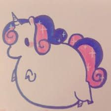 Image result for fat unicorn drawing