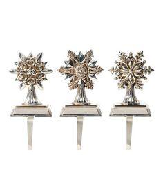 Another great find on #zulily! Snowflake Stocking Holder Set by Regency International #zulilyfinds