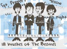Cool The Beatles Brushes. For all people who like The Beatles :)  #60s #and #band #Beatles #British #Invasion #John #Lennon #McCartney #music #musical #Paul #rock #roll #singer #the Check more at http://psdfinder.com/brushes/the-beatles-brushes