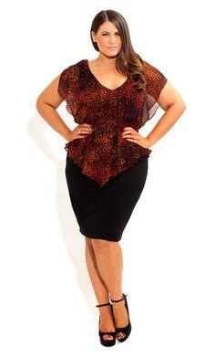 City Chic - LAYERED PEPLUM DRESS - Women's plus size fashion